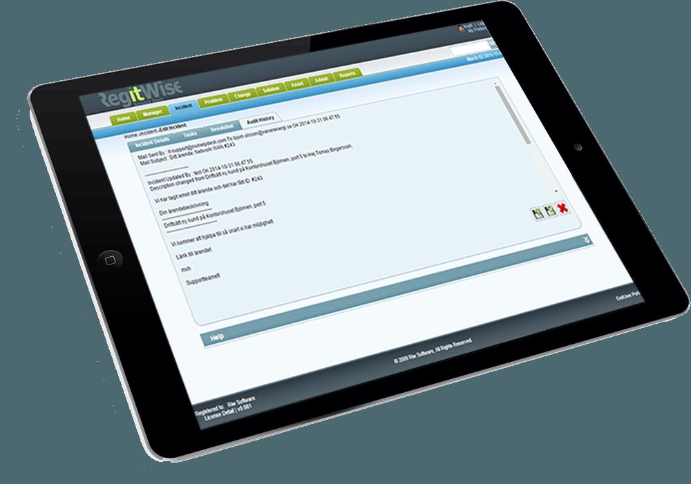 incident management audit history